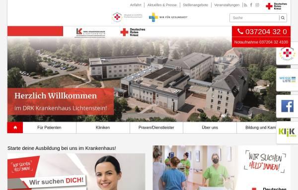 Vorschau von li.drk-khs.de, DRK-Krankenhaus Lichtenstein