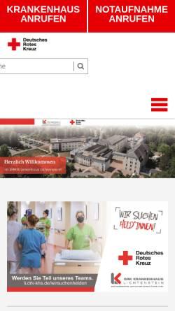 Vorschau der mobilen Webseite li.drk-khs.de, DRK-Krankenhaus Lichtenstein