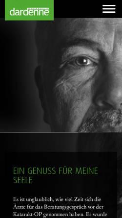 Vorschau der mobilen Webseite www.augenklinik-dardenne.de, Augenklinik Dardenne