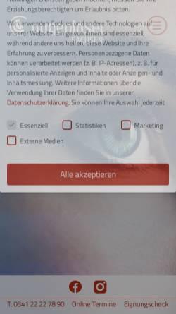Vorschau der mobilen Webseite www.augenlaser-sachsen.de, Augenlaser-Zentrum Sachsen