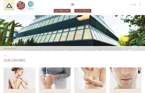 Vorschau von www.pyramide.ch, Klinik Pyramide am See AG