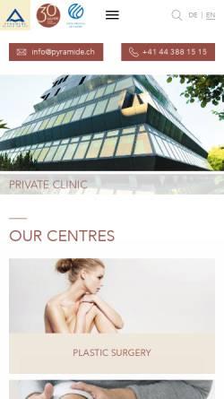Vorschau der mobilen Webseite www.pyramide.ch, Klinik Pyramide am See AG