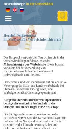 Vorschau der mobilen Webseite cortbus.de, Dr. med. Frieder Cortbus - Zentrum für Wirbelsäulenchirurgie