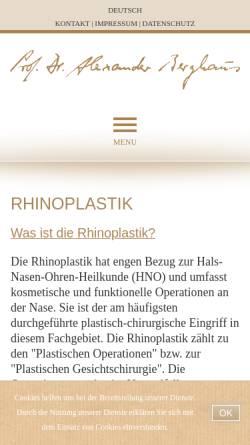 Vorschau der mobilen Webseite www.professor-berghaus.de, Schöner Atmen - Nasenchirurgie in München