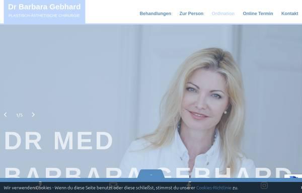 Vorschau von www.drgebhard.at, Dr. Barbara Gebhard