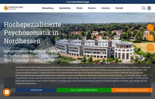 Vorschau von www.schoen-klinik.de, Medizinisch-Psychosomatische Klinik Große Allee