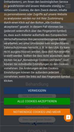 Vorschau der mobilen Webseite www.schoen-klinik.de, Medizinisch-Psychosomatische Klinik Große Allee