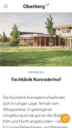Vorschau der mobilen Webseite www.somnia-kliniken.de, Klinik Konraderhof