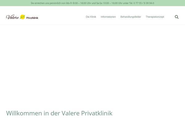 Vorschau von valere-klinik.de, Valere Psychosomatische Privatklinik GmbH