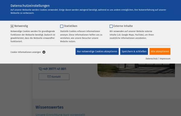 Vorschau von www.ameos.eu, Ameos Klinikum für Forensische Psychiatrie und Psychotherapie Ueckermünde