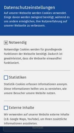 Vorschau der mobilen Webseite www.ameos.eu, Ameos Klinikum für Forensische Psychiatrie und Psychotherapie Ueckermünde