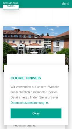 Vorschau der mobilen Webseite spessart-klinik.de, Spessart-Klinik Bad Orb