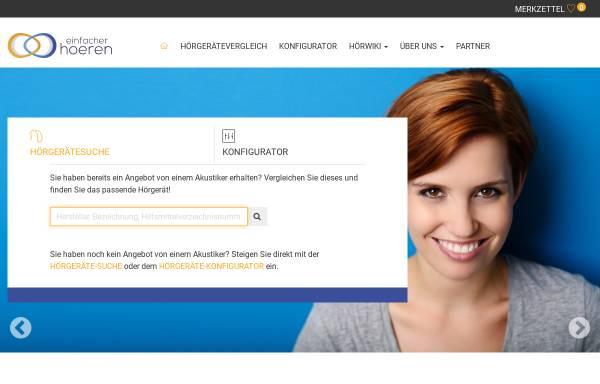 Vorschau von www.einfacher-hoeren.de, Einfacher Hören