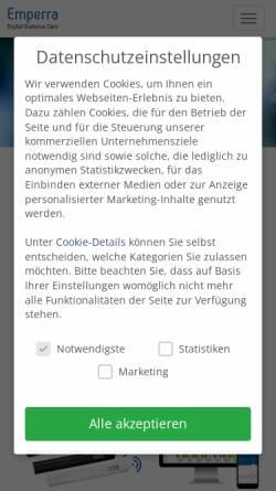 Vorschau der mobilen Webseite www.emperra.com, Emperra GmbH E-Health Technologies