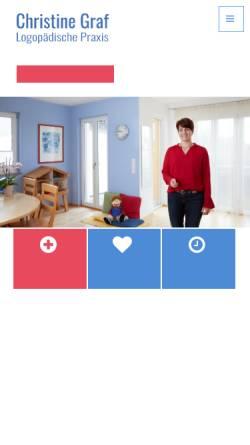 Vorschau der mobilen Webseite www.logopraxis-graf.de, Logopädische Praxis Christine Graf