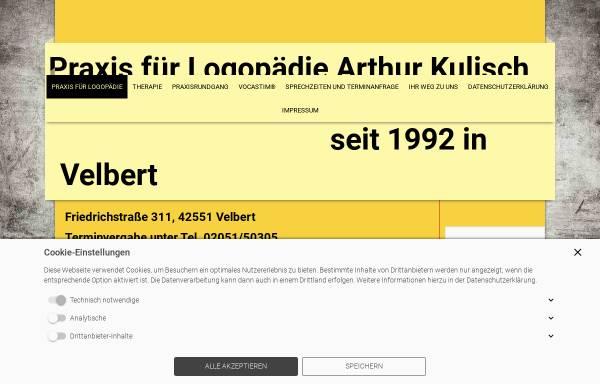 Vorschau von www.logopaedie-velbert-kulisch.de, Praxis für Logopädie Arthur Kulisch
