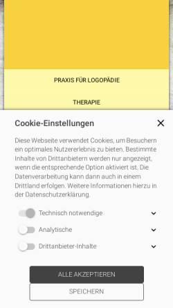 Vorschau der mobilen Webseite www.logopaedie-velbert-kulisch.de, Praxis für Logopädie Arthur Kulisch