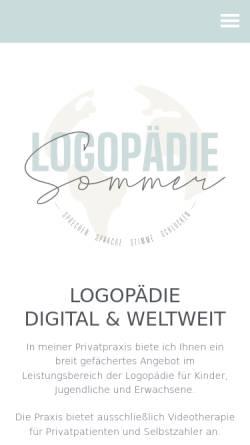 Vorschau der mobilen Webseite logopaedie-sommer.de, Logopädische Praxis Sommer