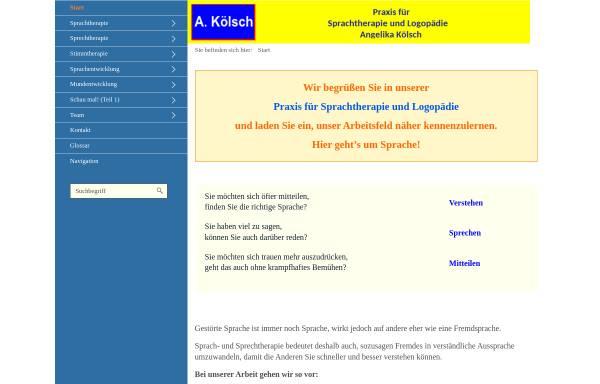 Vorschau von www.angelika-koelsch.de, Praxis für Sprachtherapie und Logopädie