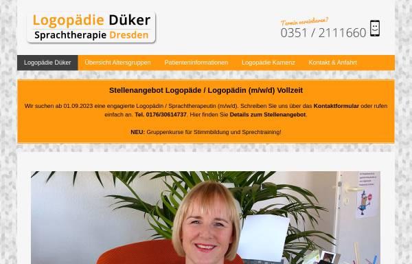 Vorschau von www.sprachtherapie-dueker.de, Juliane Düker – Logopädie Düker