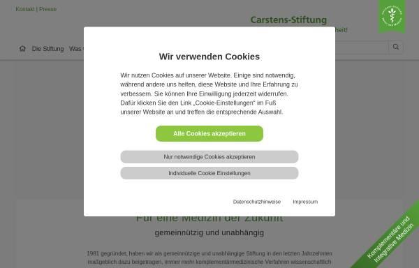 Vorschau von www.carstens-stiftung.de, Karl und Veronica Carstens-Stiftung