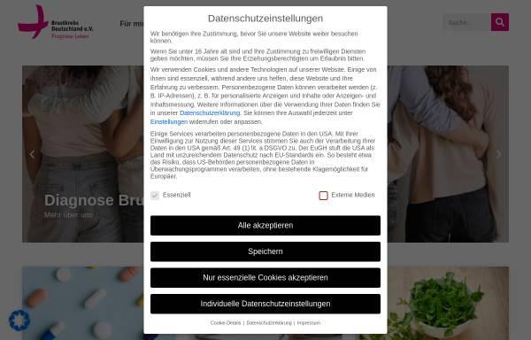 Vorschau von www.brustkrebsdeutschland.de, Brustkrebs Deutschland e.V.