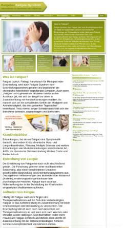Vorschau der mobilen Webseite www.fatigue.info, Ratgeber Fatigue Syndrom - Barbara Kliem