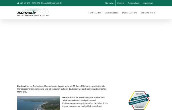 Vorschau von www.dantronik.de, Dantronik Funk & Telematik GmbH & Co KG