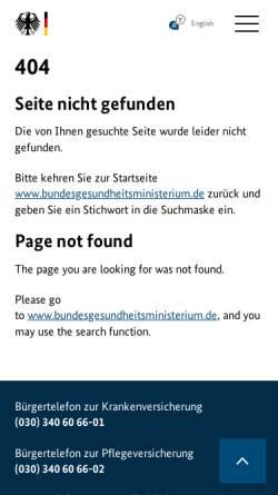 Vorschau der mobilen Webseite www.bundesgesundheitsministerium.de, Nationaler Krebsplan - Bundesministerium für Gesundheit Deutschland
