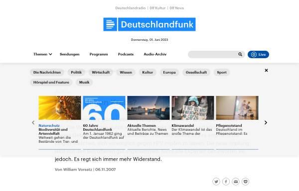 Vorschau von www.deutschlandfunk.de, Deutschlandradio: Impfen gegen Krebs