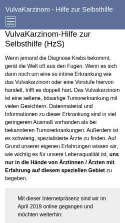 Vorschau der mobilen Webseite vulvakarzinom-shg.de, VulvaKarzinom-Selbsthilfegruppe
