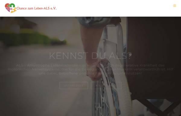 Vorschau von www.chancezumleben-als.de, Chance zum Leben ALS e.V.