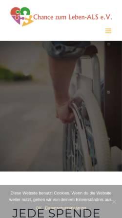 Vorschau der mobilen Webseite www.chancezumleben-als.de, Chance zum Leben ALS e.V.