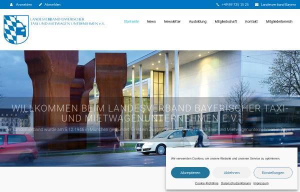 Vorschau von www.taxi-bayern.de, Landesverband Bayerischer Taxi- und Mietwagenunternehmer e.V.