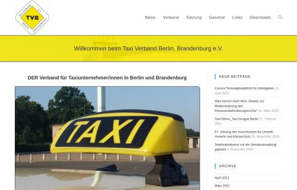Vorschau von www.taxiverband-berlin.de, Taxi Verband Berlin Brandenburg e.V. (TVB)