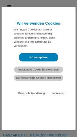 Vorschau der mobilen Webseite www.dgpsf.de, Deutsche Gesellschaft für psychologische Schmerztherapie und -forschung e. V