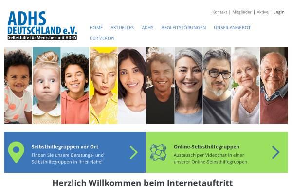 Vorschau von adhs-deutschland.de, ADHS Deutschland e.V.