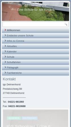 Vorschau der mobilen Webseite www.igs-delmenhorst.de, Integrierte Gesamtschule Delmenhorst (IGS)