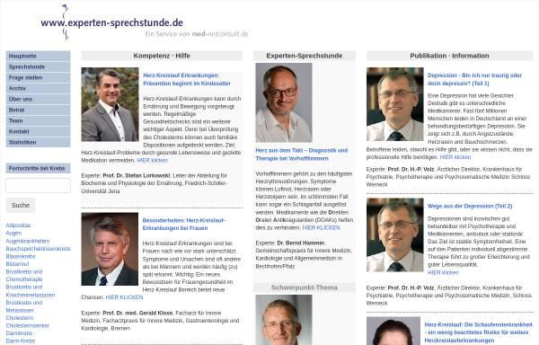 Vorschau von www.experten-sprechstunde.de, Experten-Sprechstunde