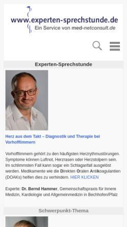 Vorschau der mobilen Webseite www.experten-sprechstunde.de, Experten-Sprechstunde