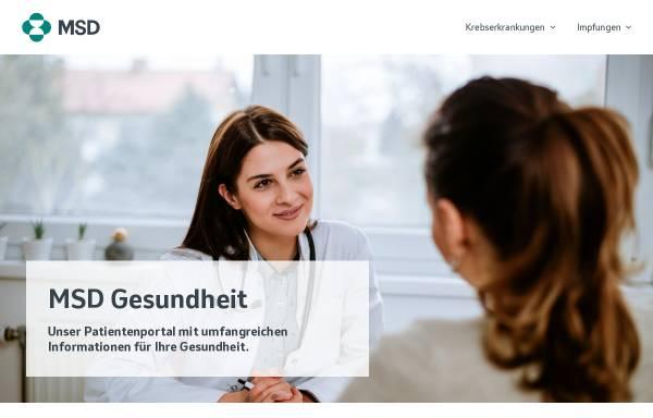 Vorschau von www.msd-gesundheit.de, MSD-Gesundheit
