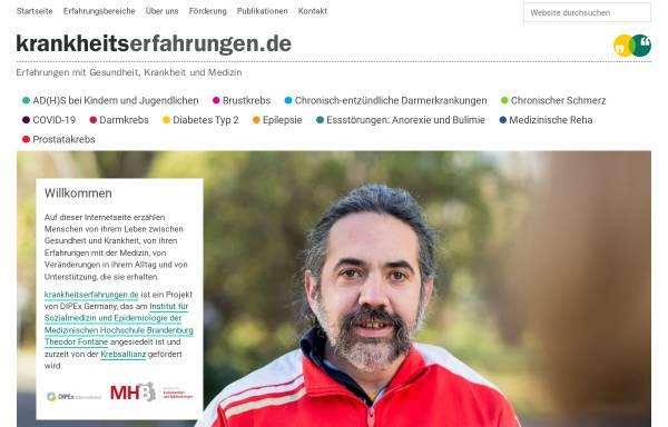 Vorschau von krankheitserfahrungen.de, Krankheitserfahrungen.de