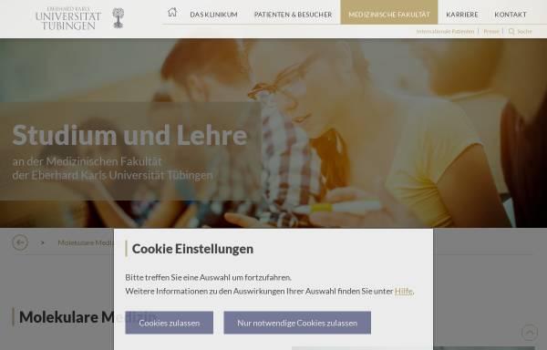 Vorschau von www.medizin.uni-tuebingen.de, Fachschaft Molekulare Medizin Tübingen