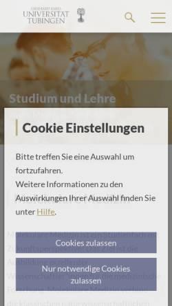 Vorschau der mobilen Webseite www.medizin.uni-tuebingen.de, Fachschaft Molekulare Medizin Tübingen