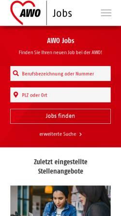 Vorschau der mobilen Webseite www.awo-stellenboerse.de, AWO Stellenbörse