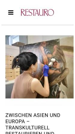 Vorschau der mobilen Webseite www.restauro.de, Restauro