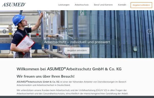 Vorschau von www.asumed.de, Asumed Arbeitsschutz GmbH & Co. KG