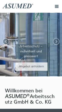 Vorschau der mobilen Webseite www.asumed.de, Asumed Arbeitsschutz GmbH & Co. KG
