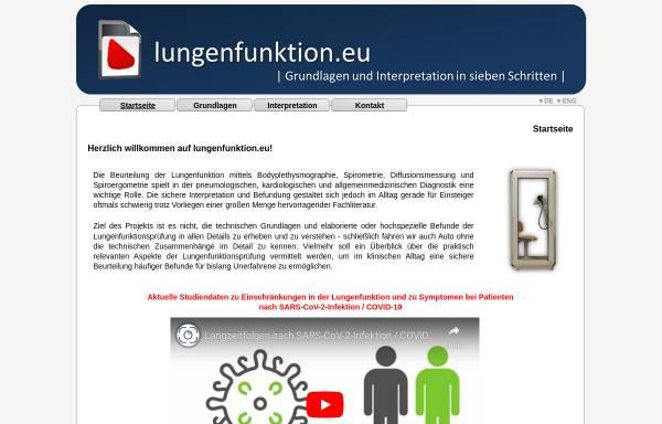 Grundlagen und Interpretation der Lungenfunktionsprüfung in sieben ...