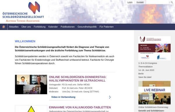 Vorschau von www.schilddruesengesellschaft.at, Österreichische Schilddrüsengesellschaft